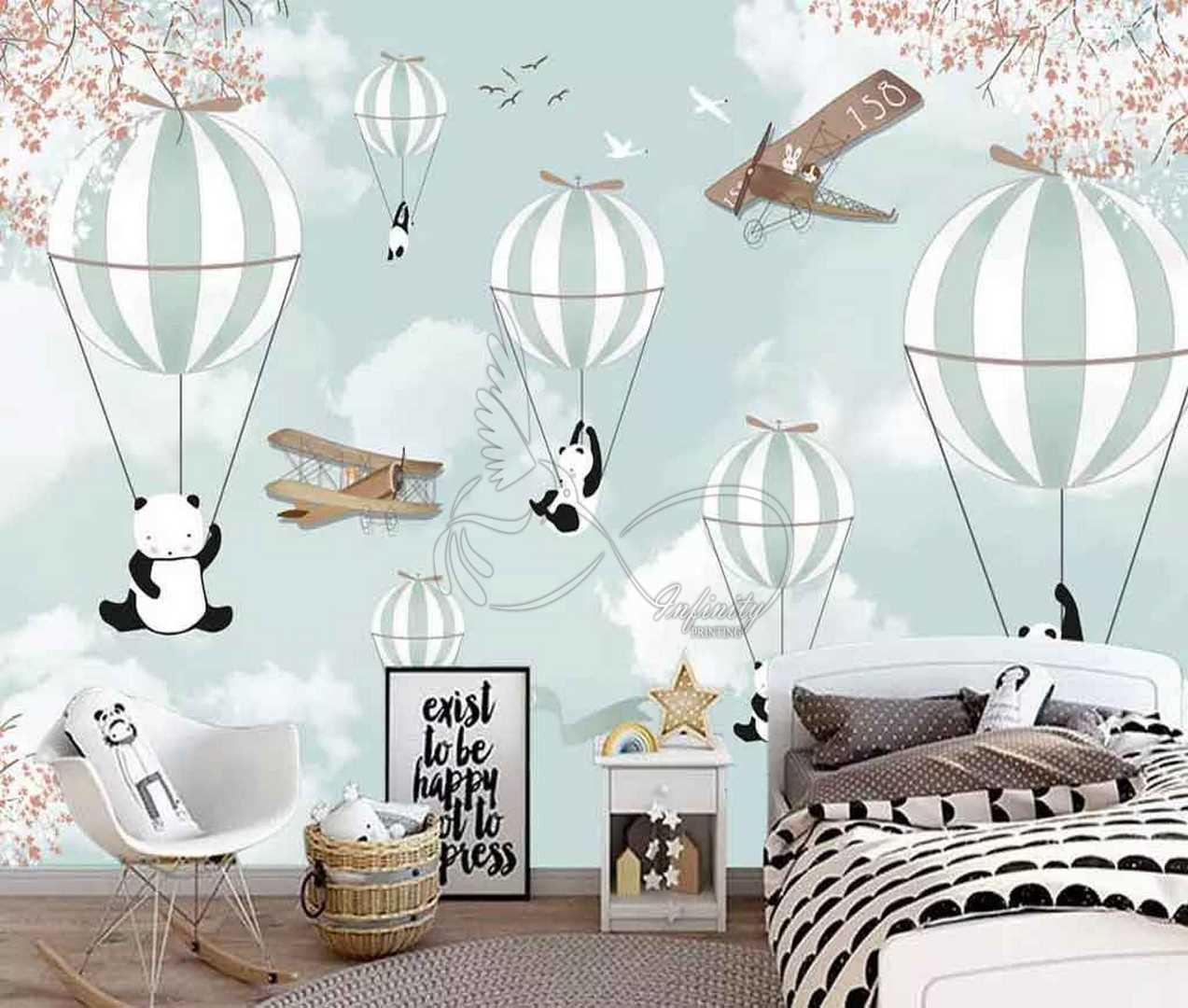 Fantasy child room design wall poster printing code 3123