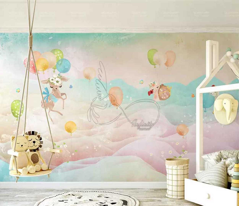 Fantasy child room design wall poster printing code 3125