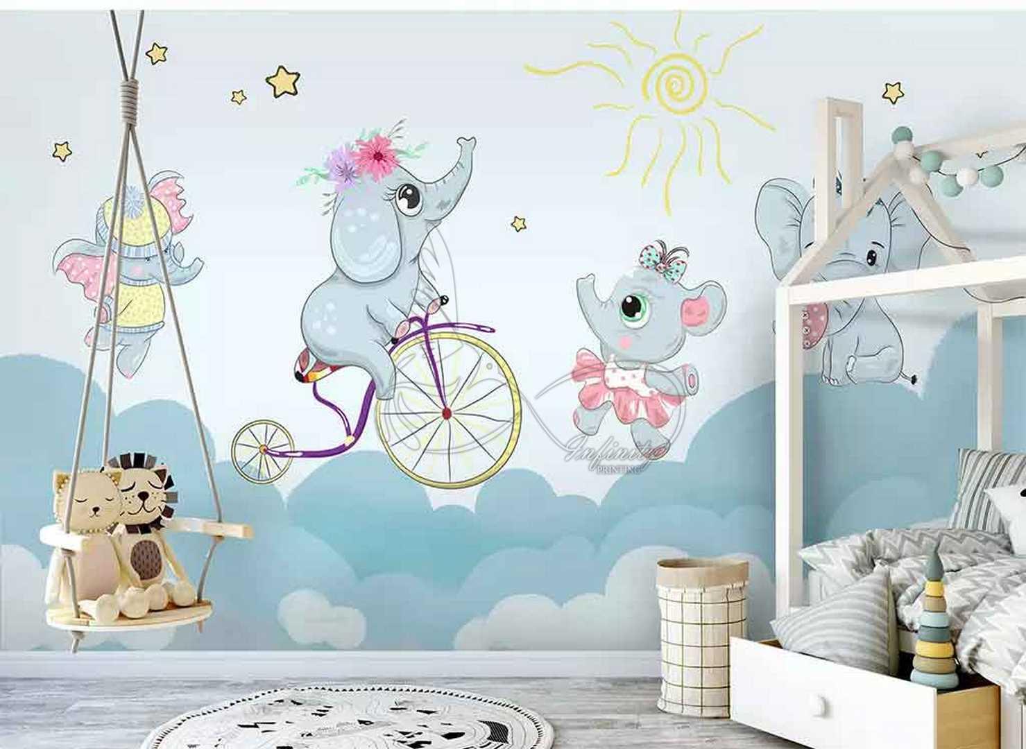 Fantasy child room design wall poster printing code 3126