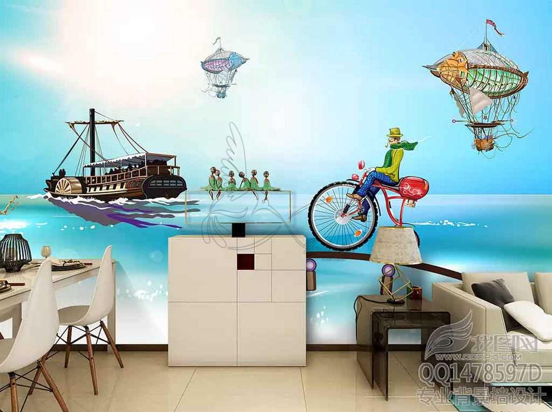 Fantasy child room design wall poster printing code 3130