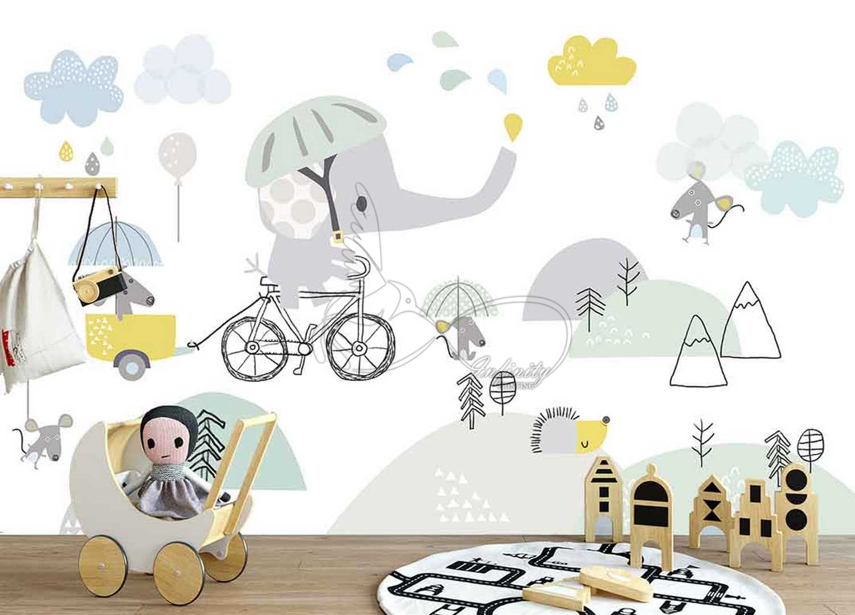 Fantasy child room design wall poster printing code 3132