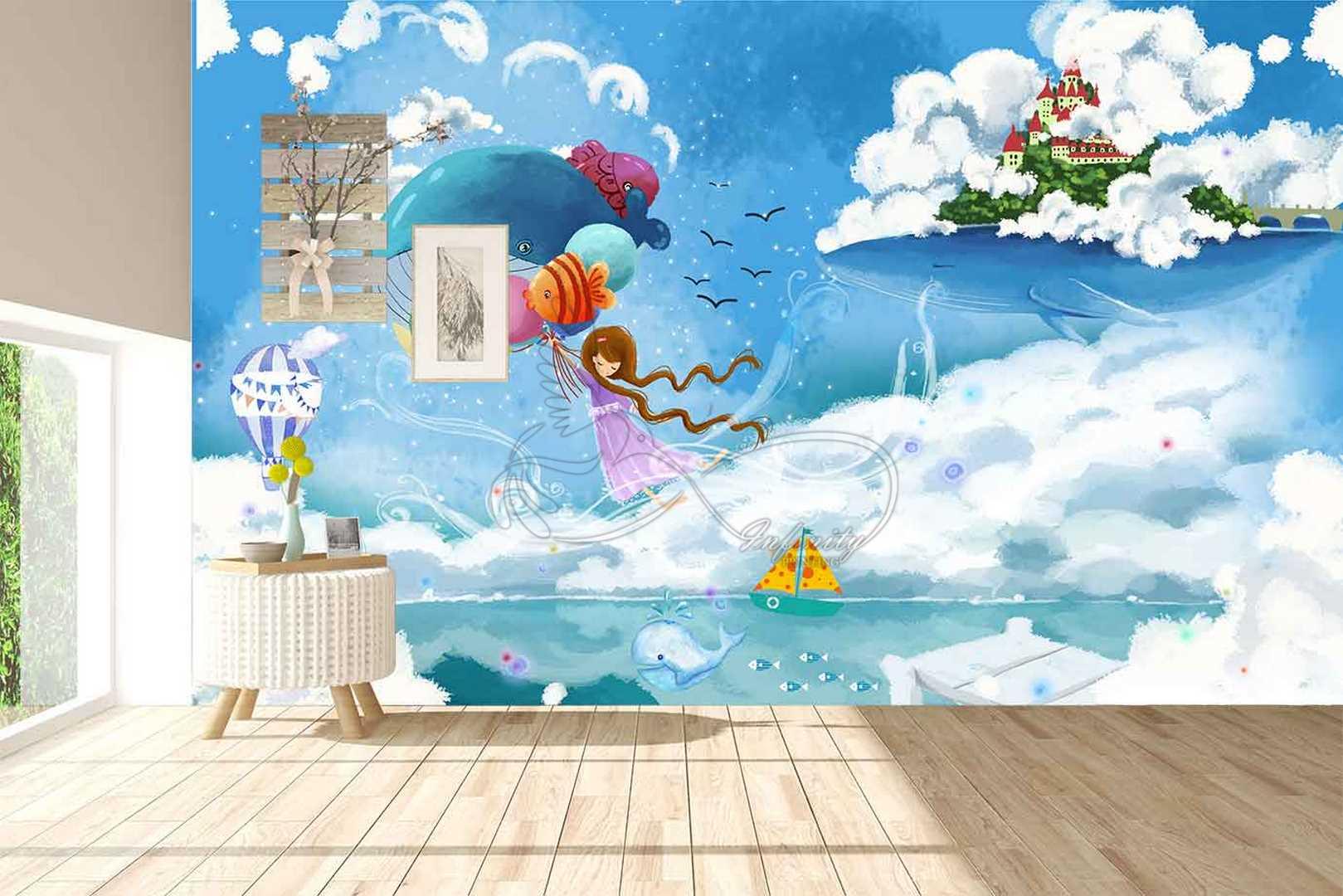 Fantasy child room design wall poster printing code 3133