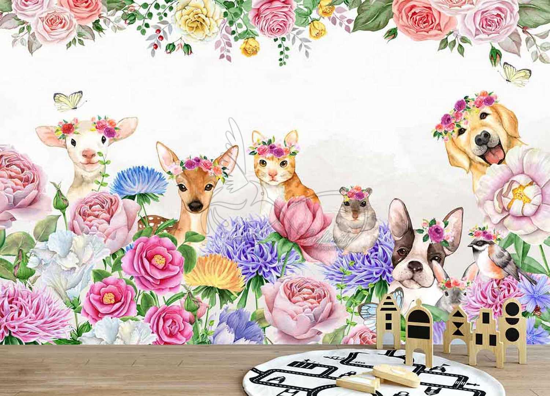 Fantasy child room design wall poster printing code 3134