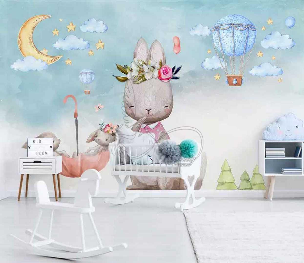 Fantasy child room design wall poster printing code 3140