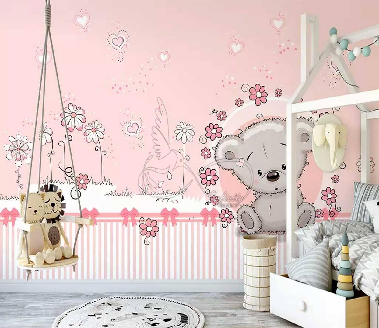 Fantasy child room design wall poster printing code 3141