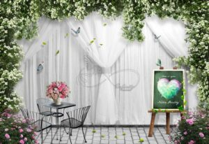 Download Meizu wall poster design for chairs and flower arch curtains